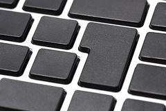 Empty Computer keyboard Stock Photos