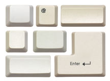 Empty computer keys Stock Photography