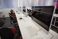 Empty computer room Royalty Free Stock Images