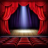 Empty concert hall stage realistic vector vector illustration