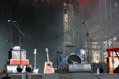 Empty concert stage. Before concert royalty free stock photo