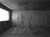 Empty concrete dark room interior with light. 3d render illustration Royalty Free Stock Photo