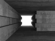 Empty concrete dark room interior with light. 3d render illustration Royalty Free Stock Image