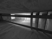 Empty concrete dark room interior with light. 3d render illustration Stock Photography