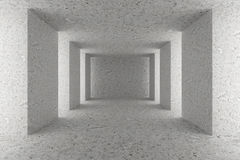 Empty concrete hall with concrete columns Royalty Free Stock Image