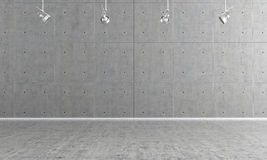 Empty concrete interior Royalty Free Stock Images