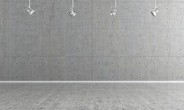 Empty concrete interior Royalty Free Stock Images