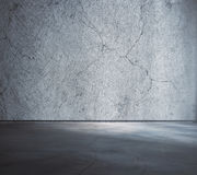 Empty concrete interior Royalty Free Stock Photos