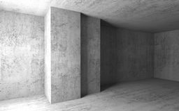 Empty concrete room with columns. 3d. Abstract architectural background, empty concrete room with columns. 3d illustration Royalty Free Stock Image