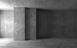 Empty concrete room. 3d illustration. Abstract architectural background, empty concrete room. 3d illustration Stock Image