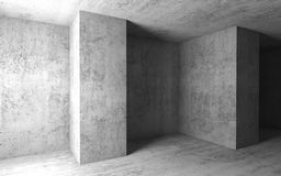 Empty concrete room. 3d illustration. Abstract architecture background, empty concrete room. 3d illustration Royalty Free Stock Photography