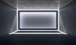 Empty concrete room. 3d rendering image of empty concrete room Stock Photography