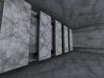Empty concrete room. Geometric architecture background Stock Photo