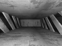 Empty concrete room. Geometric architecture background Royalty Free Stock Photos