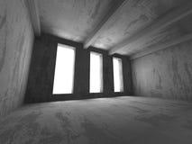 Empty concrete room. Geometric architecture background Stock Images