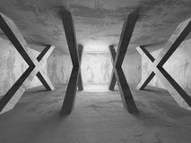 Empty concrete room. Geometric architecture background Stock Image