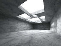 Empty concrete room interior. Abstract architecture background. 3d render illustration Stock Photo