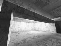 Empty Concrete Room Interior. Abstract Architecture Background. 3d Render Illustration Stock Photography