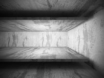 Empty concrete room interior. Abstract architecture background. 3d render illustration Royalty Free Stock Images