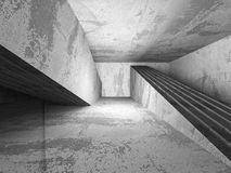 Empty concrete room interior. Abstract architecture background. 3d render illustration stock illustration
