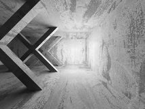Empty Concrete Room Interior. Abstract Architecture Background. 3d Render Illustration Royalty Free Stock Photography