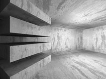 Empty Concrete Room Interior. Abstract Architecture Background. 3d Render Illustration Royalty Free Stock Image
