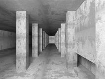 Empty Concrete Room Interior. Abstract Architecture Background. 3d Render Illustration Stock Photos