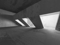 Empty Concrete Room Interior. Abstract Architecture Background. 3d Render Illustration Royalty Free Stock Photo