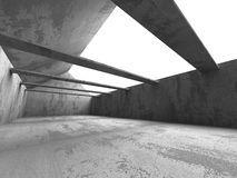 Empty Concrete Room Interior. Abstract Architecture Background. 3d Render Illustration Stock Images