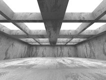 Empty concrete room interior. Abstract architecture urban backgr. Ound. 3d render illustration Stock Image
