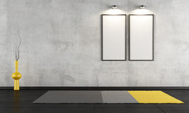 Empty concrete room Royalty Free Stock Photography
