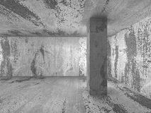 Empty concrete walls room interior. Abstract architecture backgr Stock Photo