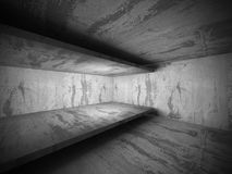 Empty concrete walls room interior. Abstract architecture backgr Stock Image