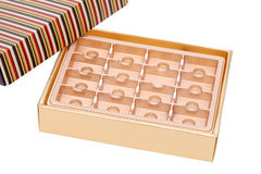 Empty confectionery box Royalty Free Stock Photo