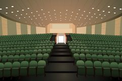 Empty conference auditorium royalty free illustration