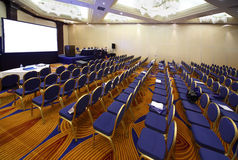 Empty conference hall stock images