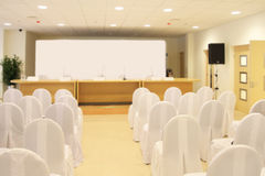 Empty conference hall Stock Image