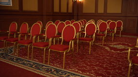 Empty conference hall of classic design stock video