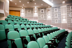 Empty conference hall, rows of a chairs royalty free stock photo