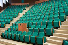 Empty conference hall, rows of a chairs Stock Image