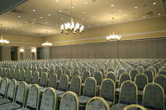 Empty conference room. Luxurious conference room ready for audience Stock Image