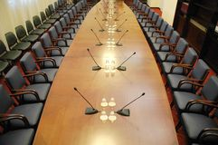 Empty conference room Stock Images
