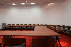 Empty Conference Room. An empty conference room with chairs and table Royalty Free Stock Photography