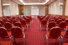 Empty conference room. Ready for audience Royalty Free Stock Photo