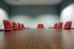 Empty Conference room. An empty conference room with 8 chairs Royalty Free Stock Photos