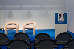 Empty conference room at Bit 2014, international tourism exchange in Milan, Italy Stock Photography