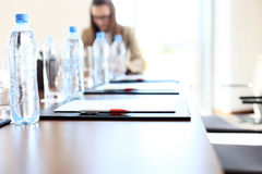 Empty conference room Stock Image
