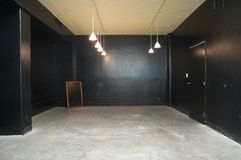 Empty conference room painted in black Royalty Free Stock Photography