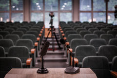 Empty conference room. Conference room - rows of empty seats texture Stock Image