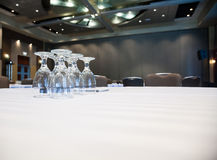 Empty Conference room with tables Stock Photography
